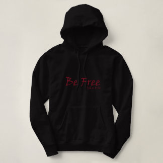 Women's Basic Hooded Sweatshirt Be Free logo Red