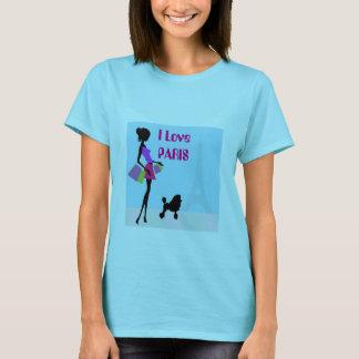 Women's Basic I Love Paris T-Shirt