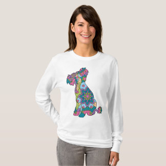 Women's Basic Long Sleeve T-Shirt Chinese crested