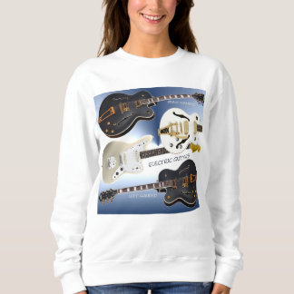 Women's Basic Sweatshirt with Electric Guitars