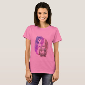 womens basic t-shirt 3xl pink