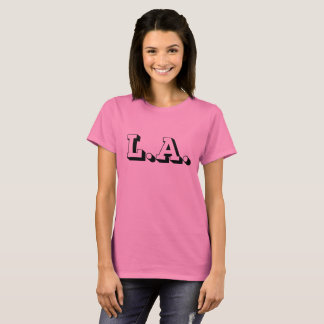 Women's Basic T-Shirt L.A. Los Angeles 3D