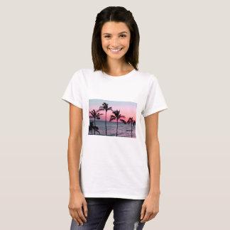 Women's Basic T-shirt /sunset and palm