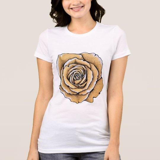 Women's Basic T-Shirt Vintage Rose