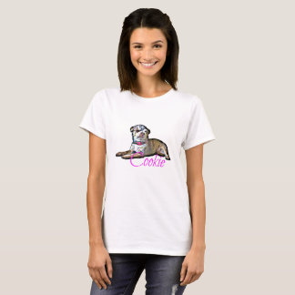 Women's Basic T-Shirt w Cartoon Cookie Picture