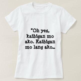 Women's Basic T-Shirt, White, Hugot Lines Shirt