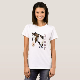 Women's Basic T-Shirt With Cartoon Ziggy and Name