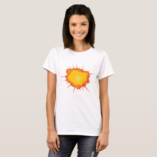 Women's Basic T-Shirt with explosion image print