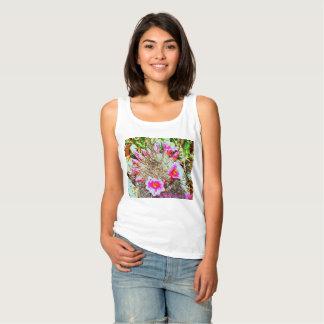 Women's Basic Tank Top - Fishhook Cactus in Pink