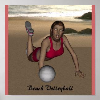 Womens Beach Volleyball Poster