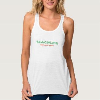 "Women's ""BEACHLIFE"" Flowy Racerback Tank Top"