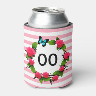 Womens Beautiful Rose 85th 88th 89th 90th Birthday Can Cooler