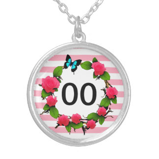 Womens Beautiful Rose 85th 88th 89th 90th Birthday Silver Plated Necklace