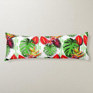 Women's Beautiful Trendy Tropical Leaf Flower Body Pillow