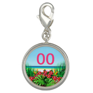 Women's Beautiful Tropical 21st 30th 40th Birthday Photo Charm