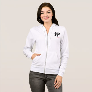 Women's Bella+Canvas Full-Zip Hoodie KANJI/GOD