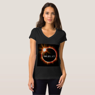 Women's Bella+Canvas Jersey V-neck Eclipse T-shirt