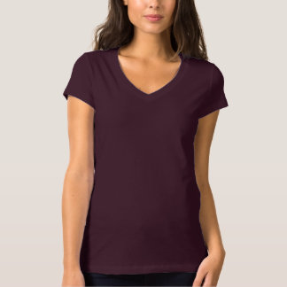 Women's Bella+Canvas Jersey V-Neck PLUM FRUIT T-Shirt