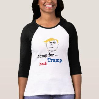 Women's Bella TShirt Jump for ... Trump 2016