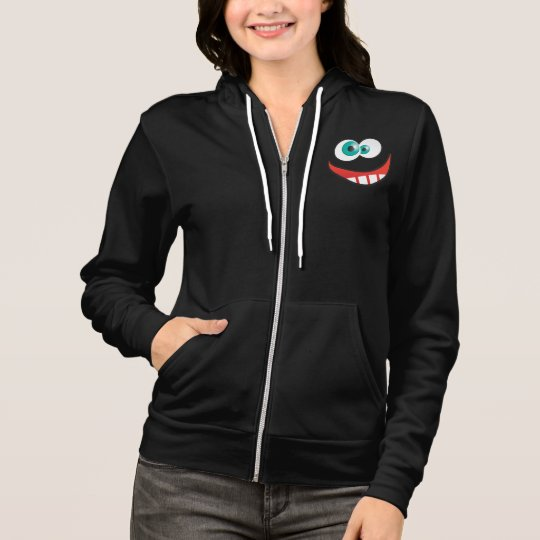 Women's Black Goofy Full-Zip Hoodie