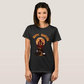 Women's Black Happy Haunting Halloween Tshirt