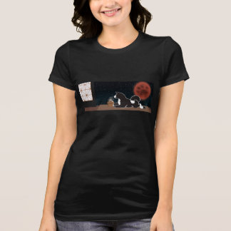 Women's Black MARS Harvest Moon T-shirt