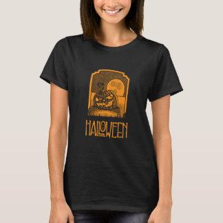 Women's Black & Orange Halloween T-shirt