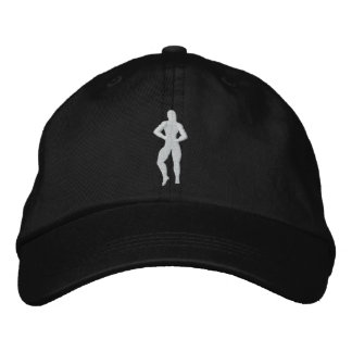 Womens Bodybuilding Pose Embroidered Hat