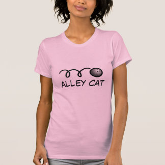 Women's bowling shirt with funny quote | Alley cat