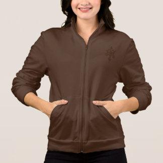 Women's butterfly American Apparel Fleece Zip Jog Printed Jacket