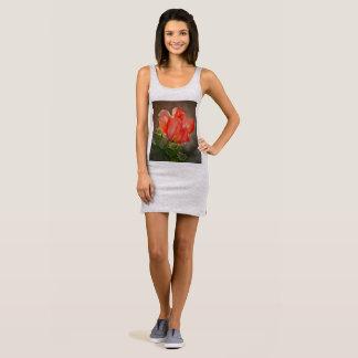 Women's Cactus Bloom in Red Jersey Dress