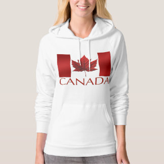 Women's Canada Flag Hoodie Souvenir Hooded Shirt