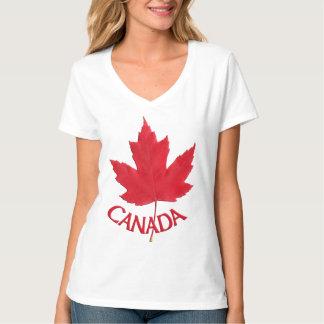 Women's Canada Shirt Lady's Maple Leaf Shirt