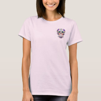 Women's candy skull pocket tee