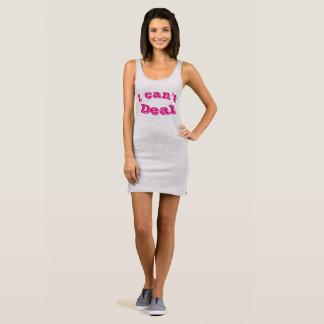Women's Can't Deal Gray Jersey Tank Dress