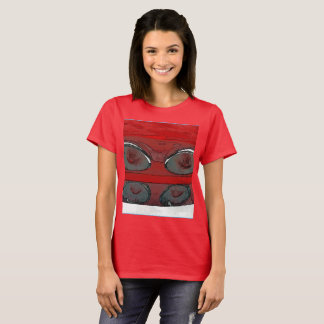 Women's car tail lights as a sketch t-shirt