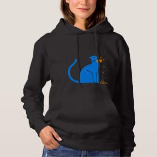 "Women's ""Cat Ate the Canary"" Hoodie (Black)"