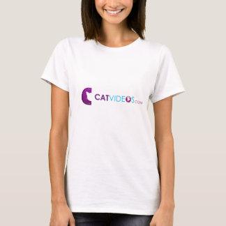 Women's Cat Videos shirt cyan