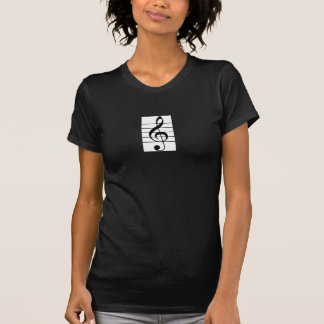 Womens' Clarinet / Treble Clef Fitted Shirt
