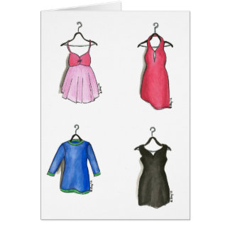 Women's Cocktail Dress Dresses Fashion Notecards Note Card