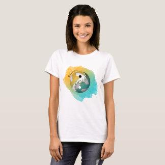 Women's colour splash yin and yang volleyball T-Shirt