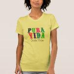 Women's Colourful Pura Vida Costa Rica T-shirt