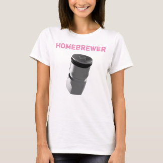 Women's Corny Keg Beer Post - Homebrewer T-Shirt