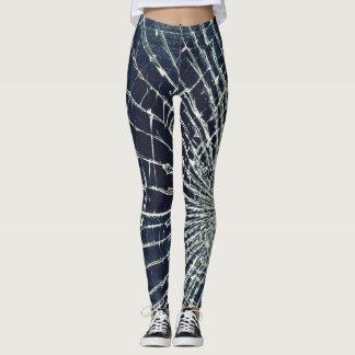 Women's cracked glass leggings
