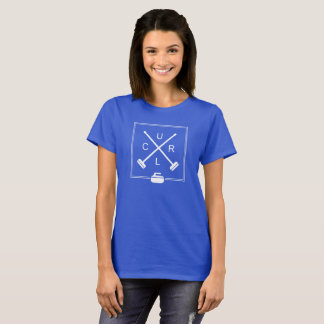 Women's Crossed Brooms Curling T-Shirt