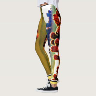 "Women's Custom Leggings ""Stove Pipe in Bloom"""