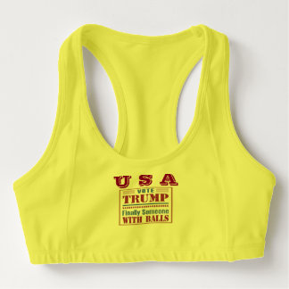 Women's custom sports bra with USA