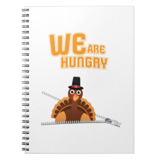 Womens Cute Thanksgiving Maternity We Are Hungry Notebooks