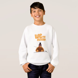Womens Cute Thanksgiving Maternity We Are Hungry Sweatshirt