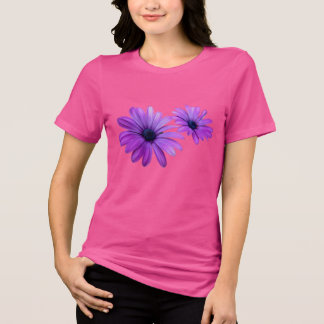 Women's Daisy T-shirt Purple Flower Shirts Gifts